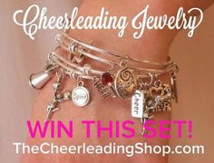 Would you like to WIN this gorgeous Cheerleading Bracelet Set from The Cheerleading Shop .com.  Enter our contest on our Facebook Page: CheerleadingInfoCenter.  Contest ends May 8, 2016. :-)