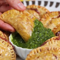 Stuffed with tender chicken, potato and cheese, these little meat pies are irresistibly tasty. [AD]