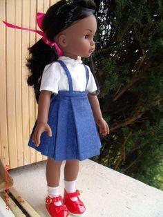 """vetement jupe plissée bleue pour poupée Corolle """"Les cheries"""""""
