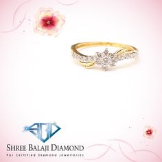 Show off your sense of style with this stunning diamond ring. 18K gold with Belgium cut diamond.