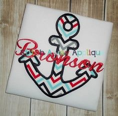 Anchor Applique - 4 Sizes! | What's New | Machine Embroidery Designs | SWAKembroidery.com Stitch Away Applique