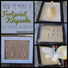 How to make a sand footprint keepsake. LOVE this!
