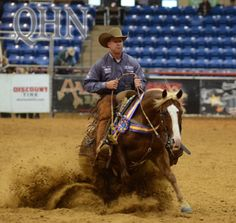 PRF Spoonful Of Gold & Corey Cushing Top World's Greatest Horseman - Quarter Horse News Western Horse Tack, Western Riding, Western Saddles, Horse Stalls, Horse Barns, Horse Training Tips, Horse Tips, Rodeo Events, Cutting Horses