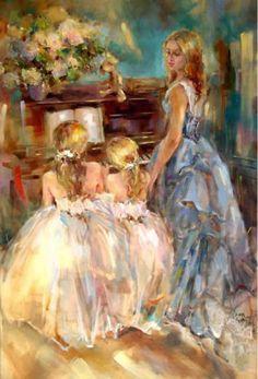 Anna Razumovskaya pintora rusa, cuyas corrientes artísticas han sido el romanticismo, con tendencias del arte figurativo, expresionista y abstracto