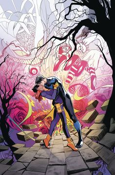 DC Comics Full Solicitations For September 2017 - And A Nightwing Kisses Batgirl Batwoman, Nightwing And Batgirl, Batgirl And Robin, Batman Robin, Marvel Dc Comics, Dc Comics Art, Tim Drake, Jason Todd, Character Drawing