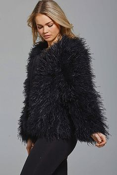 Need something fabulous for a chilly evening? Zola's got you covered. Holiday Dresses, Tis The Season, Blazers, Fur Coat, Coats, Winter, Gift, Sweaters, Jackets