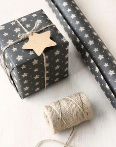 Black wrapping paper with rustic star design, kraft brown on reverse. 3 metre roll, perfect for Christmas gift wrap, paper width 50cm. I AM ONLY ABLE TO SHIP THIS TO THE UK BECAUSE OF WEIGHT AND SIZE.