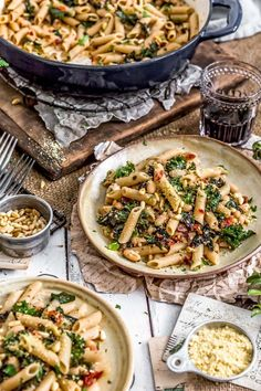 Say hello to this tasty, healthy Italian Pasta and Kale dish that is brimming with feel good ingredients, herbs, spices, and a lot of pasta love. #vegan #oilfree #glutenfree #plantbased | monkeyandmekitchenadventures.com