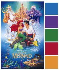 Disney Wedding Inspiration: Poster Palette - The Little Mermaid