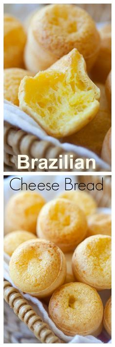 Brazil - cheese bread (Pão de Queijo) - easy 20-min recipe that yields the best and cheesiest bread, recipe by @simplyrecipes | rasamalaysia.com