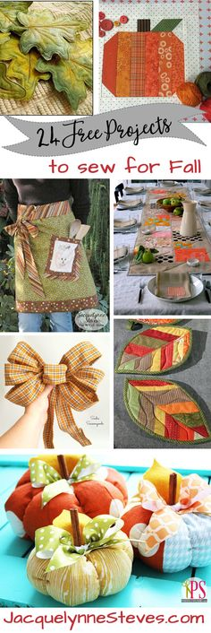 24 Free Projects to Sew for Fall, plus your chance to win $5000 sewing machine