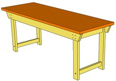 How to build a simple sturdy workbench Simple Workbench Plans, Sawhorse Plans, Workbench With Drawers, Diy Workbench, Patio Plans, Bed Plans, Table Plans, Patio Table, Diy Table