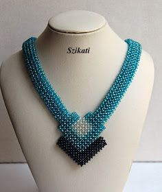 Items similar to SALE! Elegant Statement Teal Seed Bead Bib Necklace, Women& Beadwoven High Fashion Jewelry, Beadwork Accessory, Gift for Her, OOAK on Etsy Beaded Statement Necklace, Seed Bead Necklace, Pendant Necklace, Bead Jewellery, Seed Bead Jewelry, High Jewelry, Seed Beads, Fashion Jewelry, Women Jewelry