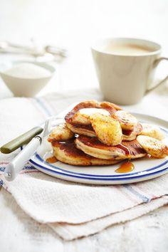 Alpro Top Banana Pancakes Recipe with Alpro alternative to yoghurt