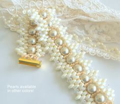 Wedding Pearl Jewelry  Wedding Pearl Bracelet      Beaded by jBunae  On Sale!  Price Reduction!