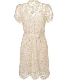 JENNY PACKHAM - Ivory Sequin Lace Dress.  http://fashionlovestruck.com/trendy-looks-for-all-types-of-occasions/#