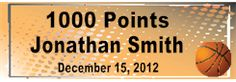 Basketball 1000 Points Banner
