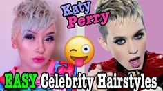 Katy Perry | EASY Celebrity Hairstyles | A Poisoned Production - YouTube