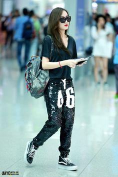 jia bling bling sweats #airportfashion