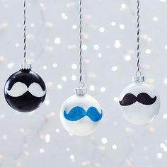 Mustache Ornaments Clinton Kelly