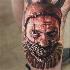 """Bad ass """"twisty"""" the clown tattoo"""