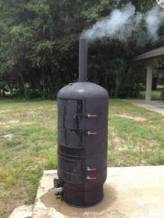 New build, new build toy w/pic's Q-talk Bbq Smoker Trailer, Bbq Pit Smoker, Diy Smoker, Fire Pit Grill, Homemade Smoker, Diy Fire Pit, Diy Barbecue, Bbq Grill Diy, Gas Bottle Wood Burner