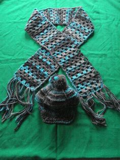 écharpe et casquette crochet