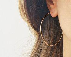 Gold Hoops Earrings Big Wire Earrings Gold Filled Hoops Earrings For Women 2 Simple Hoop Earrings Large Hoop Earrings Thin Hoops EarringsHoops Silver Hoop Earrings, Women's Earrings, Diamond Earrings, Silver Ring, Earrings Photo, Simple Earrings, Statement Earrings, Garnet Necklace, Gemstone Earrings