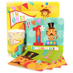 """Fisher Price """"I'm One"""" Circus Birthday Party Supplies"""