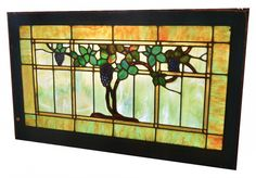 grape stained glass window