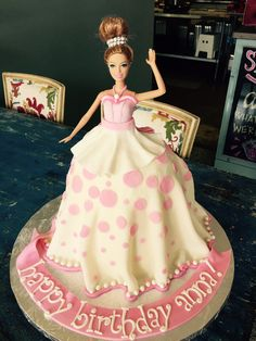 Doll cake  #fondant #doll #birthday #knoxville #dress   Artist: Sarah Ono Jones Magpies Bakery Knoxville, TN