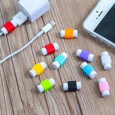 Smart Free Ship 6pcs Funny Smiling Expression Charging Data Line Data Cable Protection Sets Earphone Data Line Protector For Iphone Without Return Digital Cables