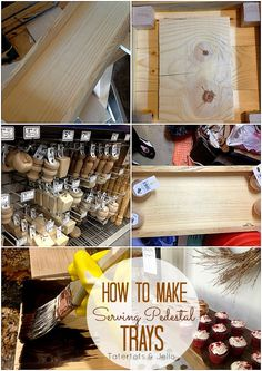 how to make wood serving pedestal trays