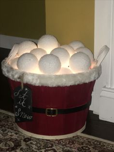 Bucket of snowballs