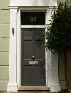 London Doors, Front Door, Regency Door Front Door Paint Colors, Painted Front Doors, Paint Colours, Cornwall Garden, Cool Doors, Door Gate, Houzz, Windows And Doors, Regency