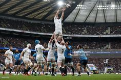 Chris Robshaw of England wins lineout ball during the RBS Six Nations match between England and...