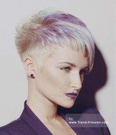 Syran JOHN FRISEUR Kurze Blonde weiblich Gerade Farbige Multi-tonalen Spikey Frauen Büro Haarschnitt Frisuren hairstyles