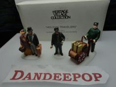 Dept. 56 Department 56 Heritage Village Holiday Travelers 3 piece 5571 Retired find me at www.dandeepop.com