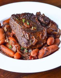 Dinner Recipe: Individual Pot Roasts with Thyme-Glazed Carrots Recipes from The Kitchn