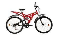 Hercules MTB Turbodrive Dynamite 18 Speed Bicycle (Red)