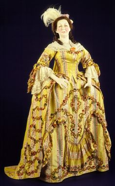 Woman's Sack-back Open Robe and Petticoat | LACMA Collections 1765-1775