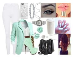 """""""Turquoise"""" by aaliyahsalmon ❤ liked on Polyvore featuring Mr. Coffee, Casetify, xO Design, Yves Saint Laurent, Finn, Rolex, Muse and Topshop"""