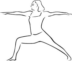 yoga pose illustrations creative commons free - Google Search