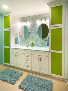 colors and storage cubes/wall | kids bathroom colors