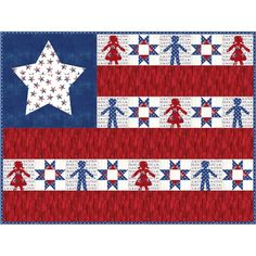 Moda Fabrics America the Beautiful Deb Strain Together as One Quilt Kit Hancocks Of Paducah, Quilt Kits, Quilt Top, Digital Pattern, American Flag, Fabrics, House Design, Hold Hands, Quilts