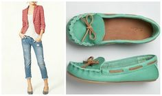 turquoise moccasins, yes please!