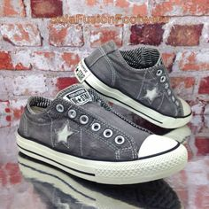 Converse Womens All Star Slip Trainers Grey sz 5 VTG One Star Sneakers US 7  37.5  4ac62eba1