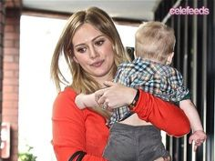 Hillary Duff Takes Son Luca To 'Babies First Class' And Shopping.