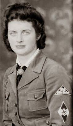 """In WWII Germany, teenage girls were inducted into the """"Band of German Maidens"""" (Bund Deutscher Mädel / BDM) wing of the Nazi Party youth organization. Description from pinterest.com. I searched for this on bing.com/images"""