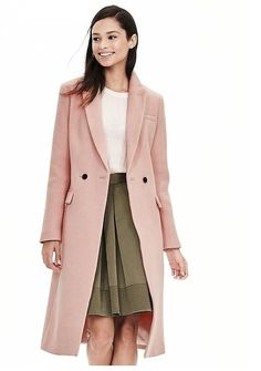Banana Republic Wool Blend Double-breasted Coat